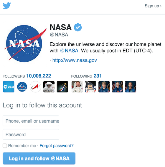 Screenshot of a Twitter.com follow intent window displayed to a logged-out Twitter user